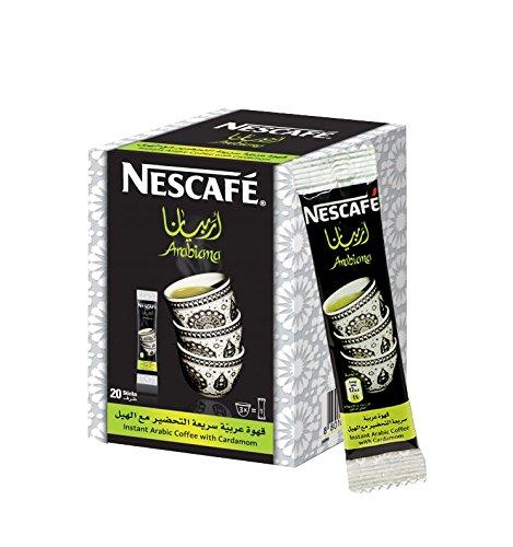 Instant Nescafe Arabiana Arabic Coffee Mix With Cardamom Flavor - Small Sticks 1 Box 20 Sticks