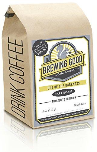 Organic Dark Roast Espresso Blend Fresh Roasted Gourmet Whole Bean Coffee