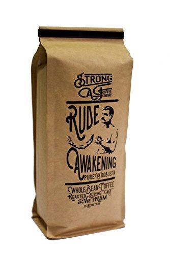 Strong AF Coffee - 2x-3x Caffeine - Rude Awakening Blend for French Press Drip Espresso 16 oz - Whole Bean