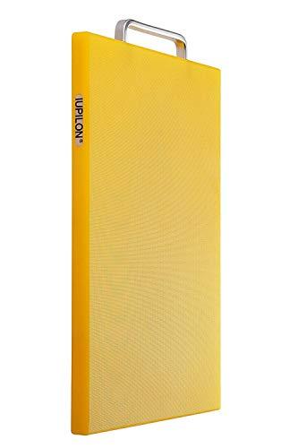 Iupilon Nonslip Thick Plastic Cutting Board with Handles - 787 x 1181 Chopping Block Yellow