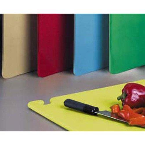 San Jamar CB182412YL Cut-N-Carry Cutting Board 18 x 24 Co-Polymer Yellow NSF