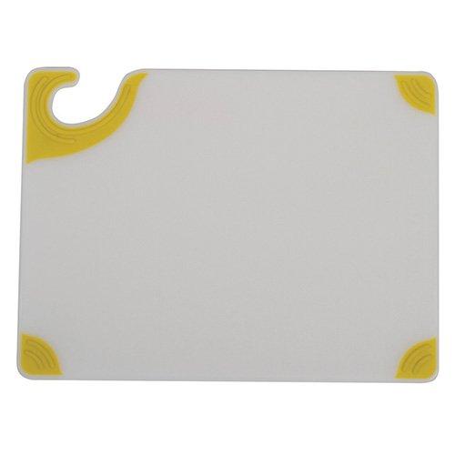 San Jamar CBGW912YL Saf-T-Grip Cutting Board Yellow Grips White