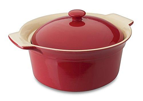 BergHOFF Geminis Round Covered Baking Dish Red