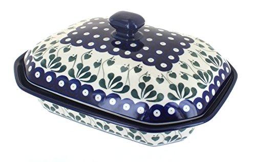 Polish Pottery Alyce Medium Covered Baking Dish