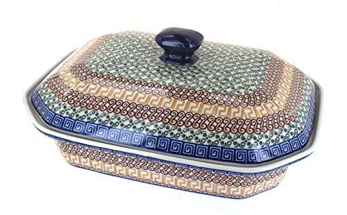 Polish Pottery Athena Large Covered Baking Dish