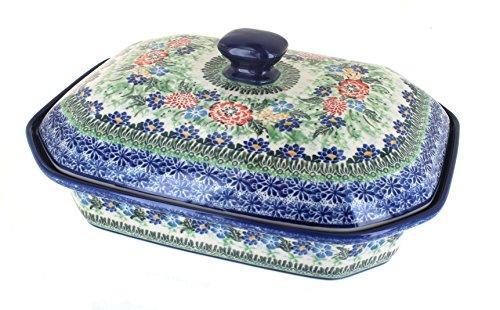 Polish Pottery Royal Gardens Large Covered Baking Dish