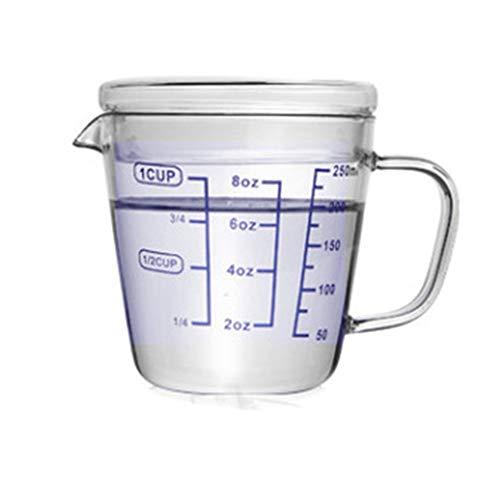 Measuring Cup250ml500ml Heat-Resistant Glass Measuring Cup with Scale Children Milk Cup High Borosilicate Glass CupsFunctionKitchen BakingMilk PowderMeasuring WineExperimental Utensils