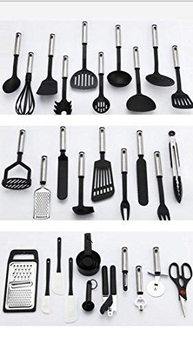 38-Piece Kitchen Utensil Set Stainless Steel Nylon Tools