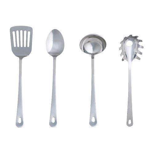 Ikea 30083334 Grunka 4-Piece kitchen Utensil Set Stainless Steel Silver