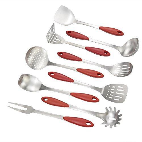 Yubine Stainless Steel Kitchen Utensil Set - Serving Utensils Set of 9