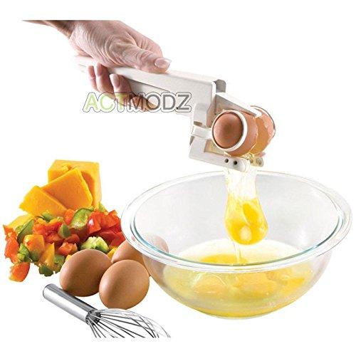 ANGELS --Easy EZ Egg Cracker Handheld York White Separator Home Kitchen Gadget Tool