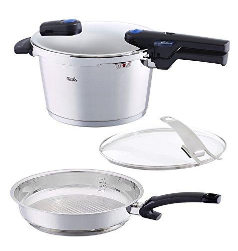 Fissler 48qt Vitaquick Pressure Cooker Set Steelux 11 Fry Pan
