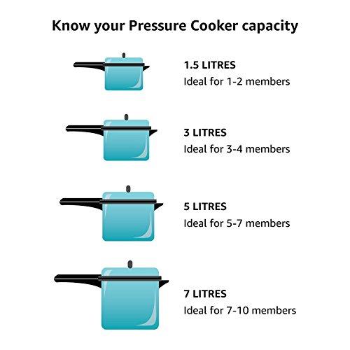 Hawkins Classic Aluminium Pressure Cooker - 5 ltrs