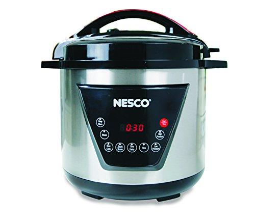 Nesco American Harvest Nesco PC8-25 Pressure Cooker 8 quart SilverBlack