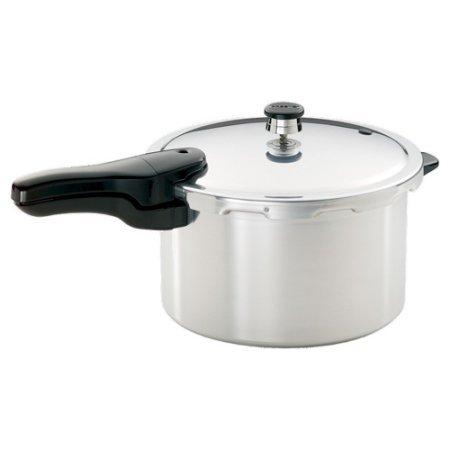 Strong Heavy-Gauge Aluminum Pressure Cooker 8-Quart Liquid Capacity