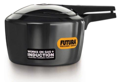 Futura Hawkins 3-Litre Hard Anodized Induction Compatible Pressure Cooker Small Black