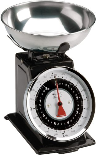 Typhoon Retro Black Stainless Steel Kitchen Scale