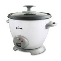 Rival CKRVRCM063 3-Cup uncooked resulting in 6-Cup Rice Cooker White