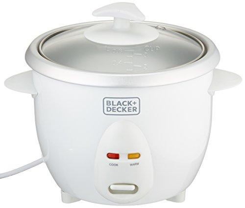 Black Decker RC650 350W 06 L 25 Cup Rice Cooker Non-USA Compliant White