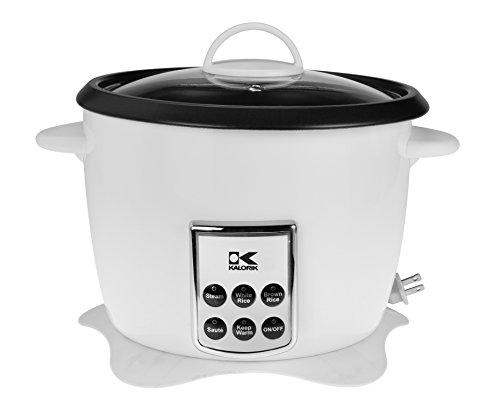 Kalorik RC 41501 W Kalorik Multifunction Digital Rice Cooker with Retractable Power Cord White