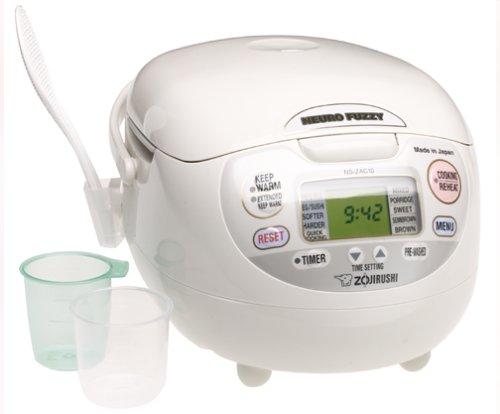 Zojirushi NS-ZAC18 10-Cup Neuro Fuzzy Rice Cooker White Gray