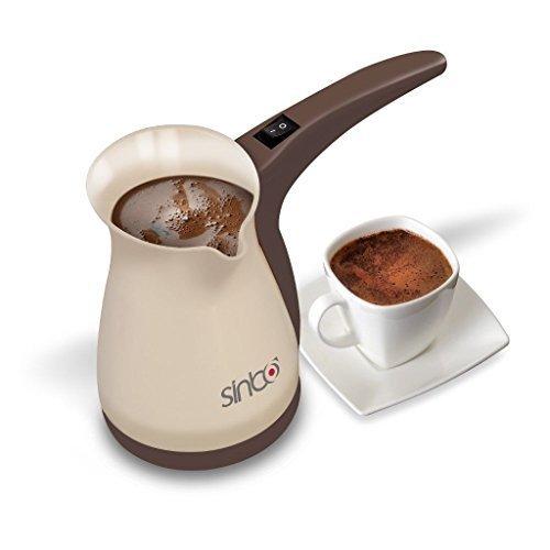 Sinbo SCM 2928 Greek Turkish Coffee Maker Machine Electric Pot Briki Ibrik BROWN by Sinbo