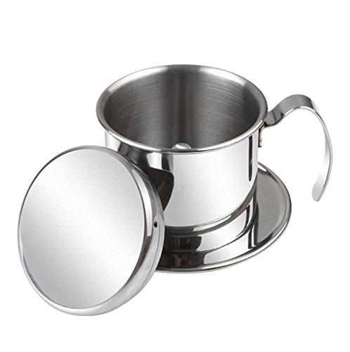 Hanperal Coffee Maker Pot Stainless Steel Vietnamese Drip Coffee Filter Maker Single Cup Strainer