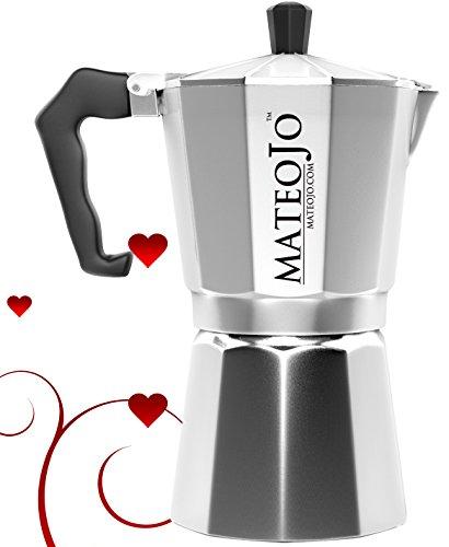 Stovetop Espresso Maker - Italian Moka Pot - Cafetera - Cuban Coffee Machine - 6 Cup by MateoJo …