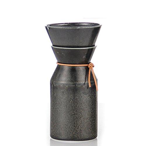 ceramics American style black Coffee Pots-B