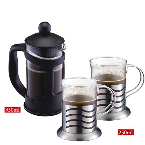 glass European style French pressure pot black Coffee Pots-B