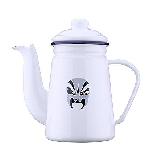 stainless steel European style Small pot Whiteblack Coffee Pots-A