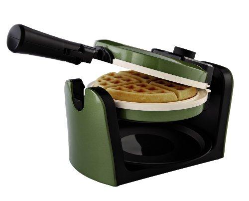 Oster CKSTWFBF10WG-ECO DuraCeramic Flip Waffle Maker Green