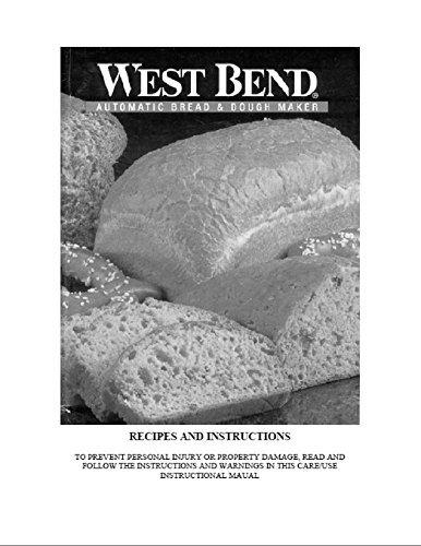 West Bend Bread Machine Maker Instruction Manual Model 41045 Reprint Plastic Comb