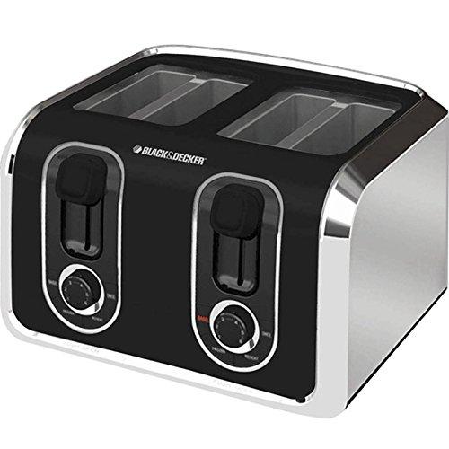 Black & Decker Tr1400sb 4-slice Toaster, Black/silver