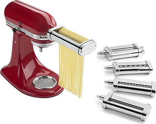 KitchenAid Pasta Deluxe Set Pasta Roller Spaghetti Cutter Fettuccine Cutter Capellini Cutter Lasagnette Cutter