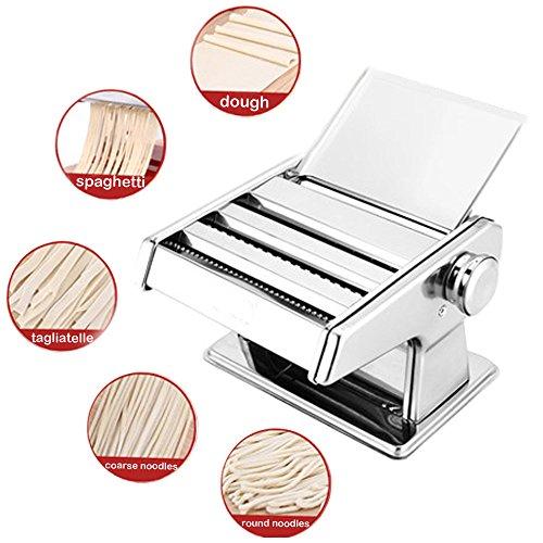 2-9mm Stainless Steel Pasta Maker Roller Machine for Spaghetti Noodle Fettuccin
