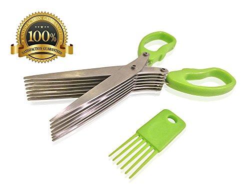 Herb Scissors - 7 Blades Sharp Premium Stainless Steel - Multipurpose Kitchen Shears - Herb Garden - Best Quality