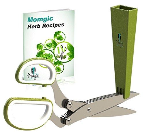 Momgic Multi-purpose Herb Scissors/shears -lifetime Guarantee- One Shot Chop Stainless Steel Blades, Best Quality
