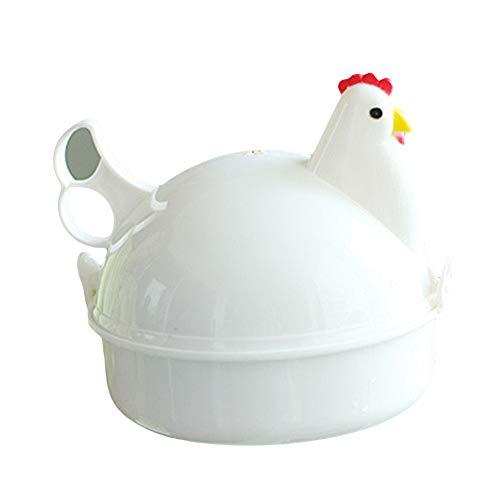 YHCWJZP Egg Steamer Chicke-n Shape 4 Eggs Steamer Boiler Kitchen Microwave Oven Supplies Cooker Tool Kitchen Tools Kitchen Supplies