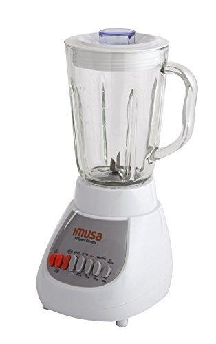 IMUSA USA GAU-80313W White 10-Speed Blender with Glass Jar 4 42 oz