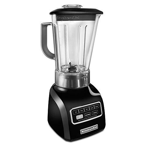 KitchenAid 5-Speed blender ksb650ob 650 Series 9HP motor Stir Chop Mix Puree and Liquefy BPA-Free Shatter-Resistant Jar Onyx Black Renewed