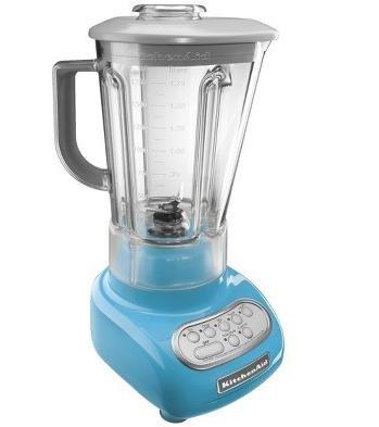 KitchenAid ksb560cl Crystal Blue 56 oz 5-Speed Blender with Polycarbonate Almost Unbreakable Jar