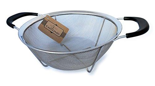 "Culina® Mesh Strainer Basket W/ Handles - 9"" Dia. Stainless Steel"