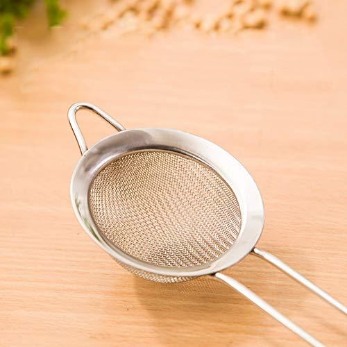 BIRD WORKS Multifunction Filter Spoon Oil-Frying Stainless Steel Mesh Colander Flour Sieve Pastry Tools Juice Tea Strainer DIY Kitchen Tool 8cm