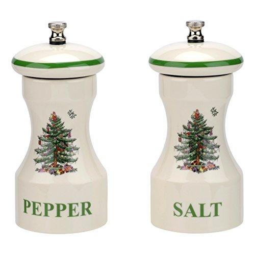 Spode Christmas Tree Salt and Pepper Grinder Set