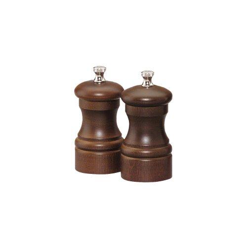 Chef Specialties 04102 Professional Series 4 Customizable Capstan Walnut Pepper Mill and Salt Mill Set
