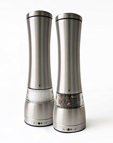 Stainless Steel Pepper Grinder Adjustable Ceramic Rotor- Essential tool for families - Salt and Pepper Shaker,set of 1