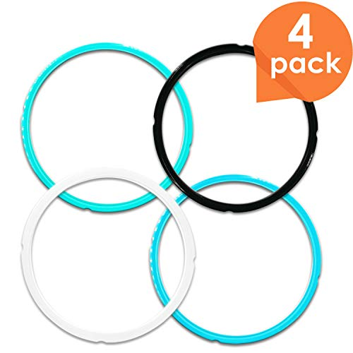 Upgraded Version Silicone Sealing Ring for Instant Pot Accessories Fits 56 Qt Pressure Cooker Models Perfect Instapot Sealing Ring Replacement to Separate Your Flavors Easy to Clean -4 pack