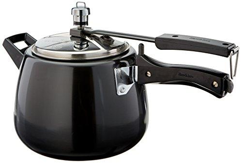 Hawkins CB40 Hard Anodised Pressure Cooker 4-Liter Contura Black