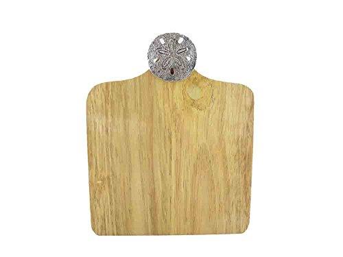 Mud Pie Sea Motif Mini Wood CuttingServing Bar Board Sand Dollar